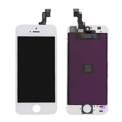 LOT OF 3 LCD DISPLAY SCREEN REPLACEMENT DIGITIZER ASSEMBLY FIT WHITE iPHONE 5S