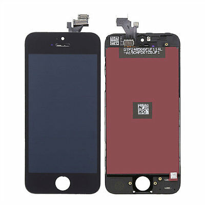 LOT OF 3 LCD DISPLAY SCREEN REPLACEMENT DIGITIZER ASSEMBLY BLACK FIT iPHONE 5S