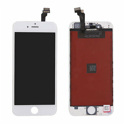 LOT OF 3 LCD DISPLAY SCREEN REPLACEMENT DIGITIZER ASSEMBLY FIT WHITE iPHONE 6