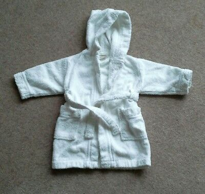 John Lewis Baby dressing gown  (3-6 months) White, unisex
