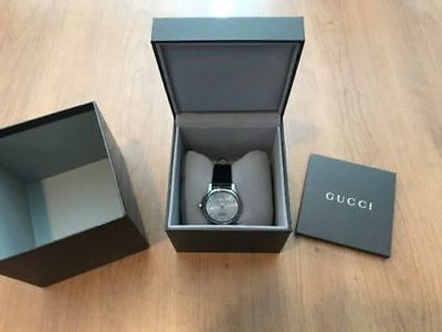 18963613cd9 Men s Gucci G-Timeless Automatic Silver Dial Black Leather Strap Watch  YA126313