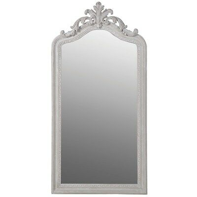 Antique Arched Tall  Scroll French White Stone Grey Dress Mirror 160cm 80cm