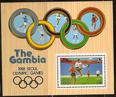 complete Issue Gambia Block42 Never Hinged 1987 60 Years Mick 100% Original Unmounted Mint