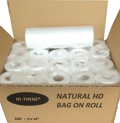 HD Natural Clear Polythene BAGS ON ROLL 9 x14"