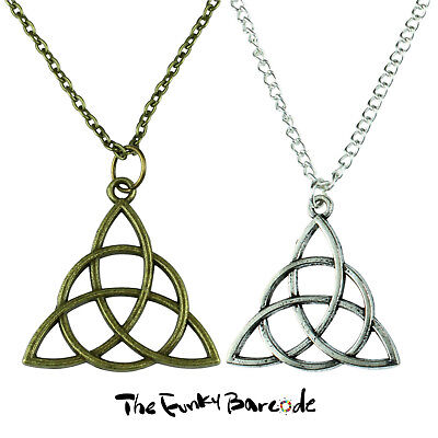 TFB - CELTIC KNOT NECKLACE Spiritual Symbol Pagen Triquetra Funky Quirky Novelty