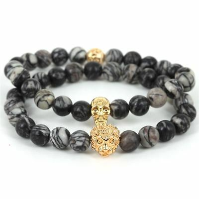 Trendy Bracelet skull Lion bijoux black grey zorrata styl gold men women fashion