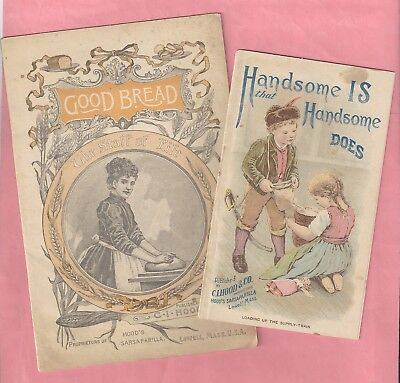 1890's Advertising for C.I. Hood & Co. Sarsaparilla - 2 Booklets
