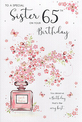 65th Sister Birthday Card Age 65 New Design Quality Card With Nice