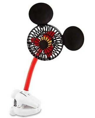 New Disney Parks Mickey Ears Handy Helpers Stroller Desk Clip-On Fan Summer
