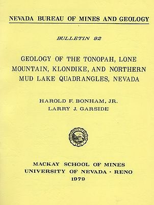 Tonopah GOLD MINES report, only 2000 printed, 1st ed, 2 BIG color separate maps!