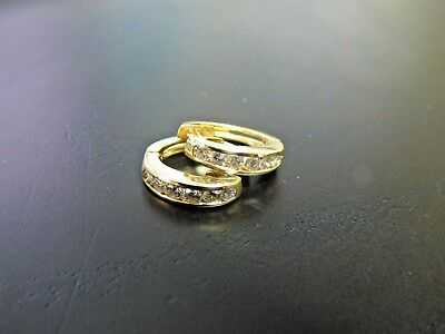 Awesome 14k Yellow Gold Diamond Latch Back Earrings - 3.3 gm