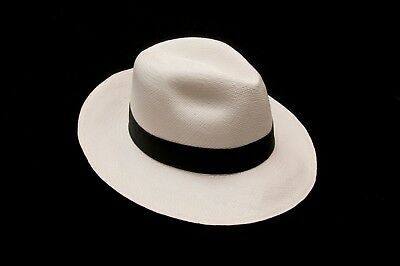 f63538ef7 PANAMA HAT, HAND Woven, Rollable, Grade 8 Supple Toquilla Straw ...