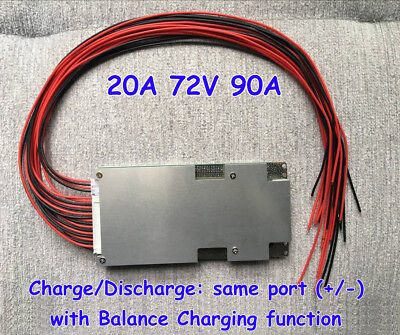 BMS PCB PCM 72v 20s 90a Li-ion LiPolymer Battery with balance for Ebike ESCOOTER