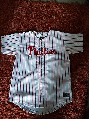 Majestic Athletic Junior Kids Phillies Stripe Baseball Jersey/ Shirt