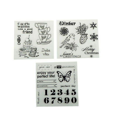 Vogel Tee Schmetterling Brief Design Clear Stamps Scrapbooking FotoalbumAB