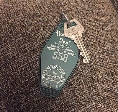 Vintage Holiday Inn Rivermont Memphis TN Room 558 Key and Plastic Key Fob
