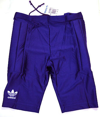 Vintage Adidas Diego Goal Keeper Purple Padded Lycra Football Shorts M d6