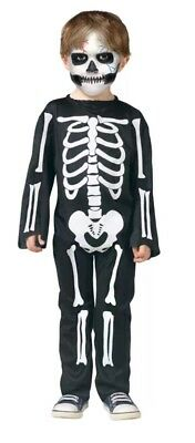 NEW W/O TAGS Toddler Skeleton Body Suit Halloween Costume (3T-4T)