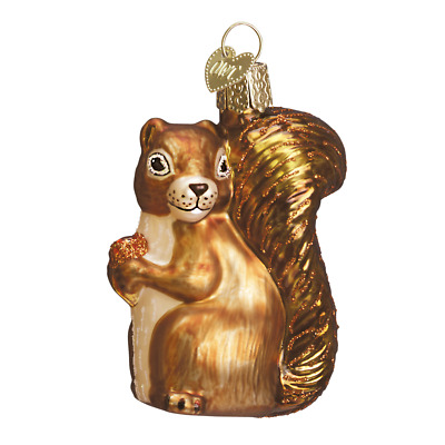 """Squirrel"" (12080)X Old World Christmas Glass Ornament w/ OWC Box"