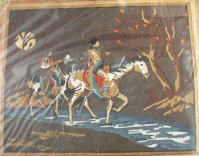 Factory Sealed - Rare - Indian Fall Picture - Crewel Longstitch Kit