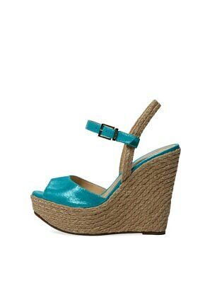 79d1a00b7ba Schutz Poppi Celeste Baby Blue Nubuck High Wedge Platform Mary-jane Sandals