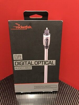 Rocketfish 8ft Digital Optical Audio Cable RF-G1219   **NEW Fast Free Shipping**
