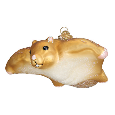 """Flying Squirrel"" (12505)X Old World Christmas Glass Ornament w/ OWC Box"