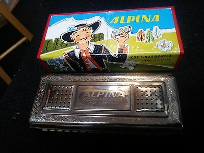 Vintage Harmonica,Alpina,Made by Koch in Germany,Double Sided,Sweet Sound,Great!