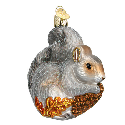 """Hungry Squirrel"" (12277)X Old World Christmas Glass Ornament w/ OWC Box"