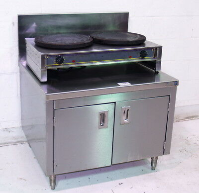 """Used Equipex Ltd. 400ED Commercial Electric Double 15 3/4""""Dia. Crepe Griddle"""