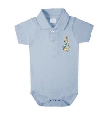 Boys Peter Rabbit Personalised Polo Bodysuits