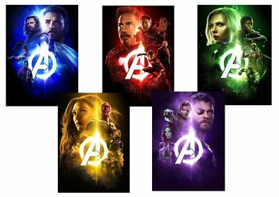 AVENGERS INFINITY WAR Iron Man, Spiderman +  Textless A5 A4 A3 PROMO poster