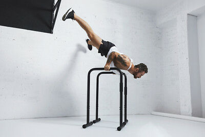 Parallel Bar 90CM With Rubber Feet Handstand Calisthenics Bodyweight Crossfit