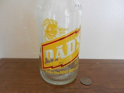 """VTG DAD's Family root beer """"MAMA"""" size rare clear pop bottle"""
