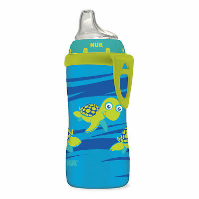 NUK Silicone Spout Blue Turtle Learning Active Cup, 10-Ounce