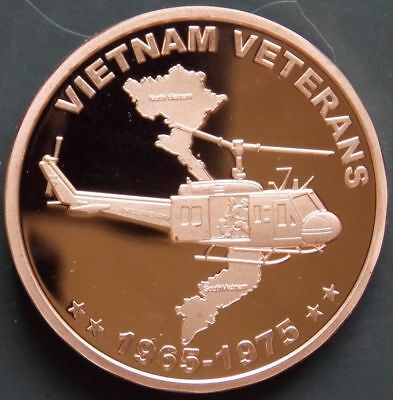 1 oz Copper Round - Vietnam Veteran