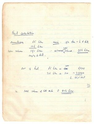Mathematical Calculations Handwritten by Francis Crick - Heritage Auctions COA