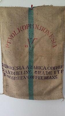 Hessian Bag Indonesian Strong Recycled Coffee Sack (or 3 sacks for $35.00)