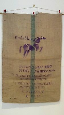 Hessian Bag Horse Print from Indonesia  Recycled Coffee Sack  Good Quality