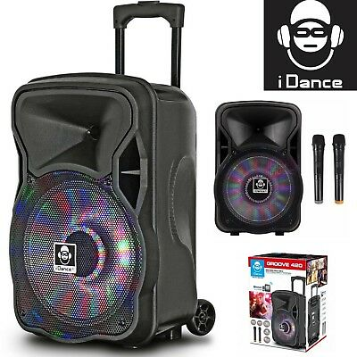 iDance Groove 420 500W Portable All-In-1 Loud Speaker Party System w Microphones