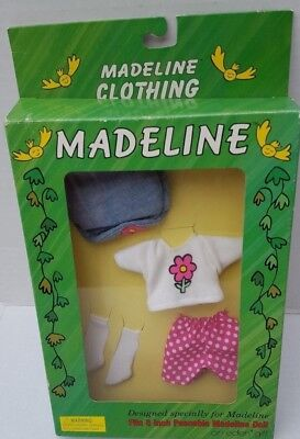 """Madeline 8"""" Doll Outfit Playtime Fun shirt hat shorts Socks RARE EDEN NEW 90's"""