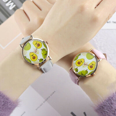 New Woman Fashion Leather Band Analog Quartz Wrist Watch Stainless Steel Watches