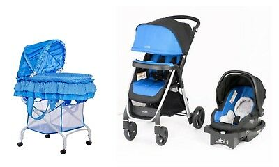 Baby Stroller Car Seat Infant Playard Crib Travel System Combo Set