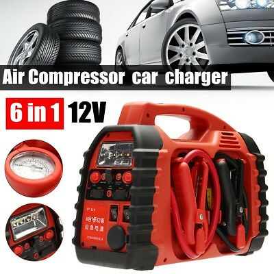 6 in 1 Air Compressor Car Charger Battery Jump Starter Portable Boost 12V AU