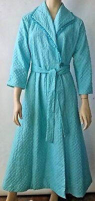 GIVONI vintage ladies quilted dressing gown house coat bath robe retro 1970's