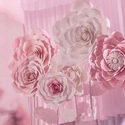 30/40cm Paper Flower Backdrop Large Rose Flowers Wedding Party Wall Garden Decor
