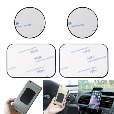 4 PCS Replacement Metal Adhesive Plate Magnet Sticker For Phone GPS Car Holder