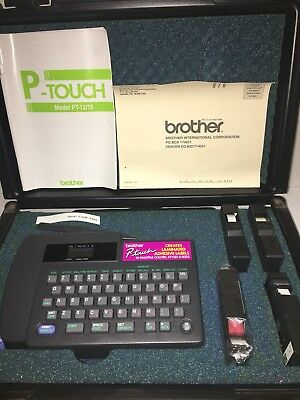 Brother P Touch Pt 1230pc Thermal Transfer Pc Connectable Label