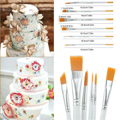 6pcs Flexible Painting Brushes Cake Decorating Fondant Dusting Sugar Craft Tool