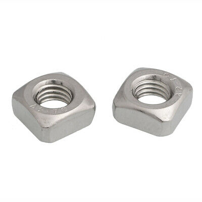 10pack M3 M4 M5 M6 M8 M10 A2 STAINLESS STEEL SQUARE NUTS  DIN 562
